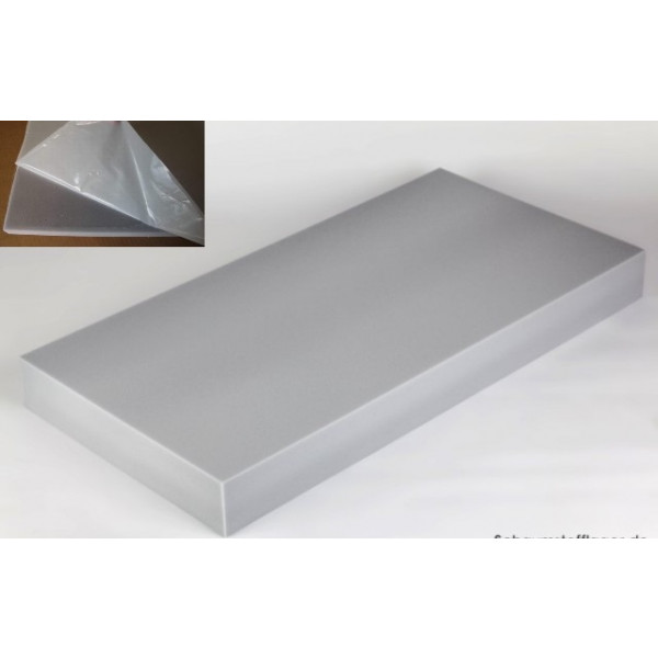 basotect absorber 100cm x 50cm x 10cm hellgrau klebend. Black Bedroom Furniture Sets. Home Design Ideas