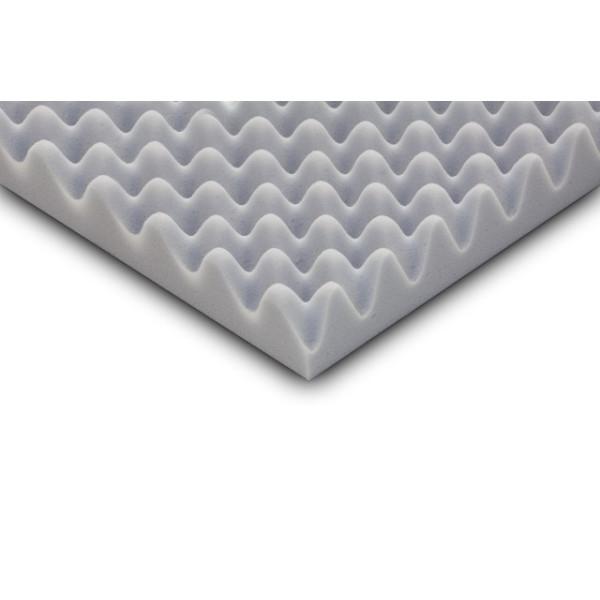 100cm x 50cm x 4cm Pyramidenschaum aus Basotect/® grau