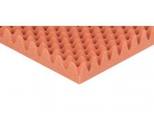 Noppenschaumstoff Colorline 95cm x 45cm x 7cm orange PU Schaumstoff