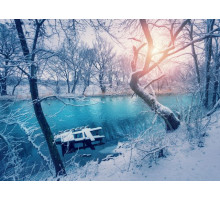Akustikbild Fluss in Winterlandschaft